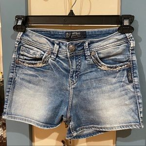 Vintage Style Jeans Shorts by Silver Jeans Co
